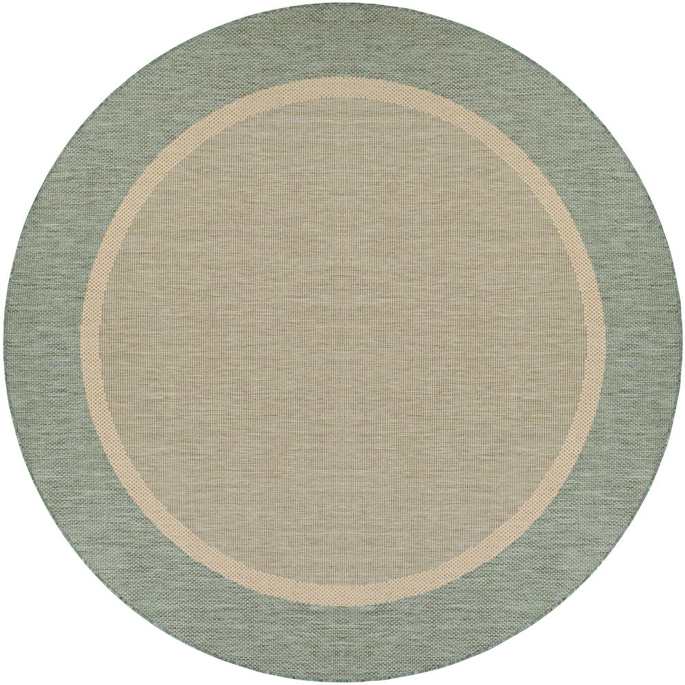 Couristan Recife Stria Texture Natural Green 8 Ft X 8 Ft Round