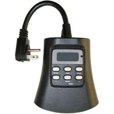 Plug-In 3-Outlet Outdoor Digital Photocell Timer