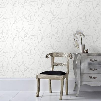 White Mica Innocence Removable Wallpaper