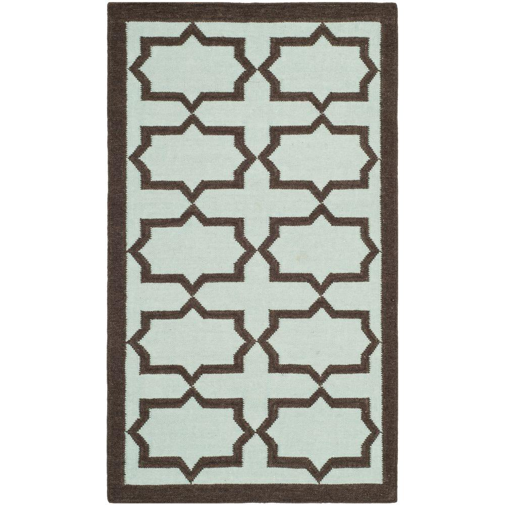 Safavieh Dhurries Light Blue 3 ft. x 5 ft. Area Rug