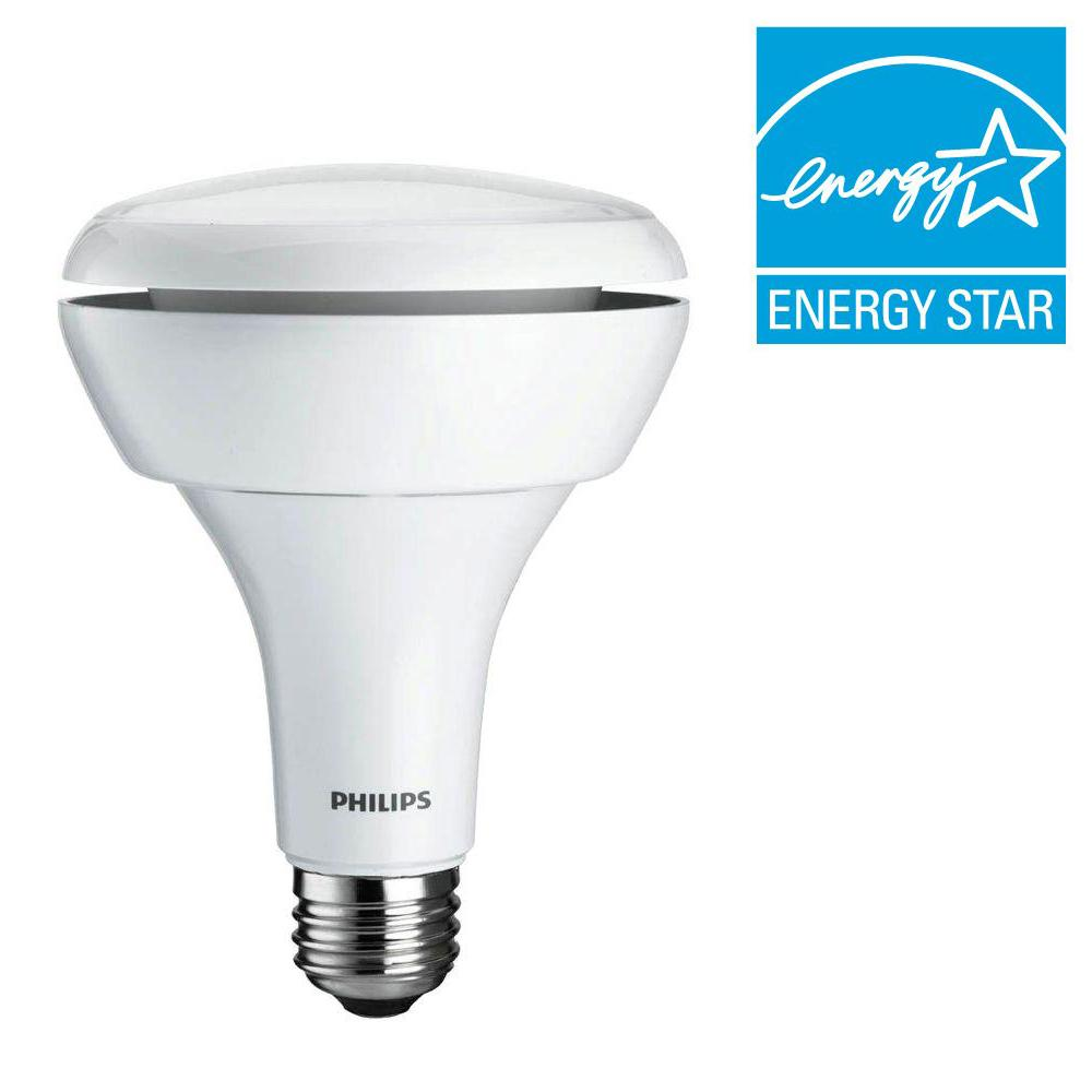 Philips 65W Equivalent Soft White (2700K) BR30 Dimmable LED Floodlight Bulbs (2-Pack)