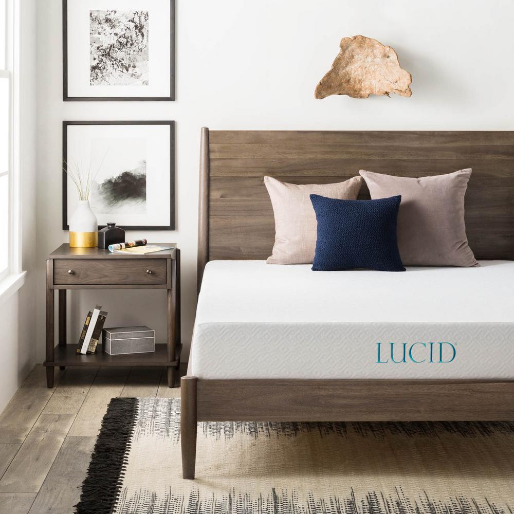 Lucid 8 in. Queen Dual Layer Gel Memory Foam Mattress