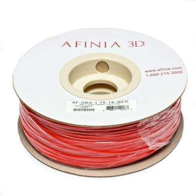 Value-Line 1.75 mm Red ABS Plastic 3D Printer Filament (1kg)