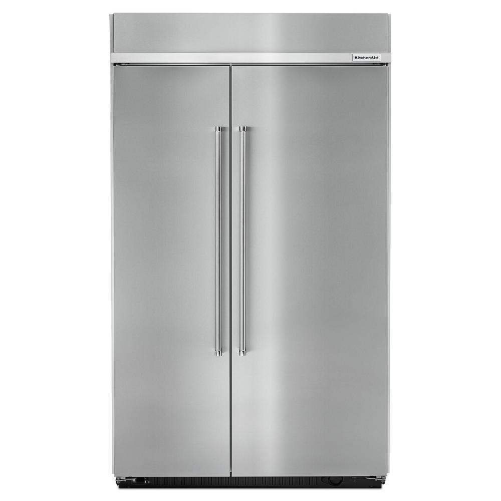 kitchenaid 30 cu ft built in side by side refrigerator in rh homedepot com