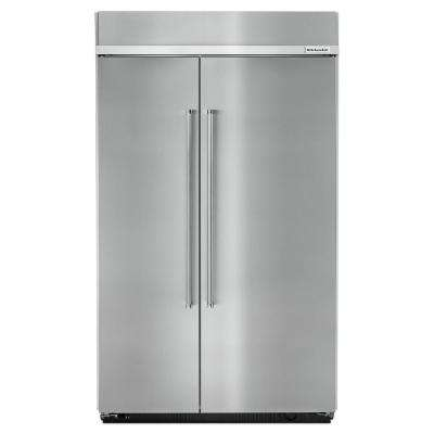 30 cu. ft. Built-In Side by Side Refrigerator in Stainless Steel