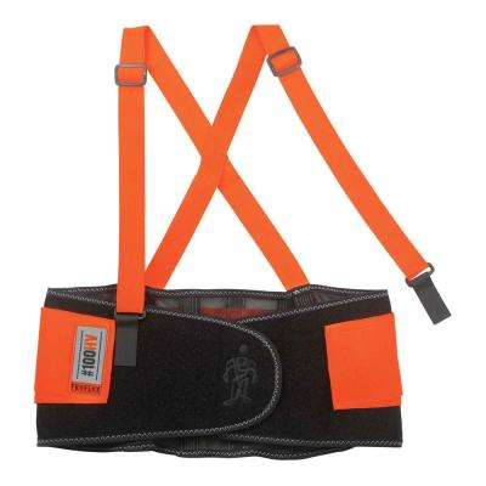ProFlex Medium Orange Economy Spandex Hi-Vis Back Support