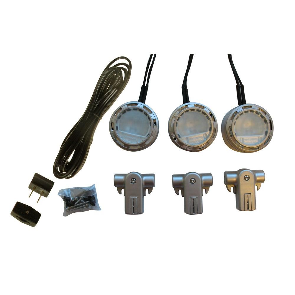 120-Volt Xenon Nickel Accent Light Kit (3 Pack)
