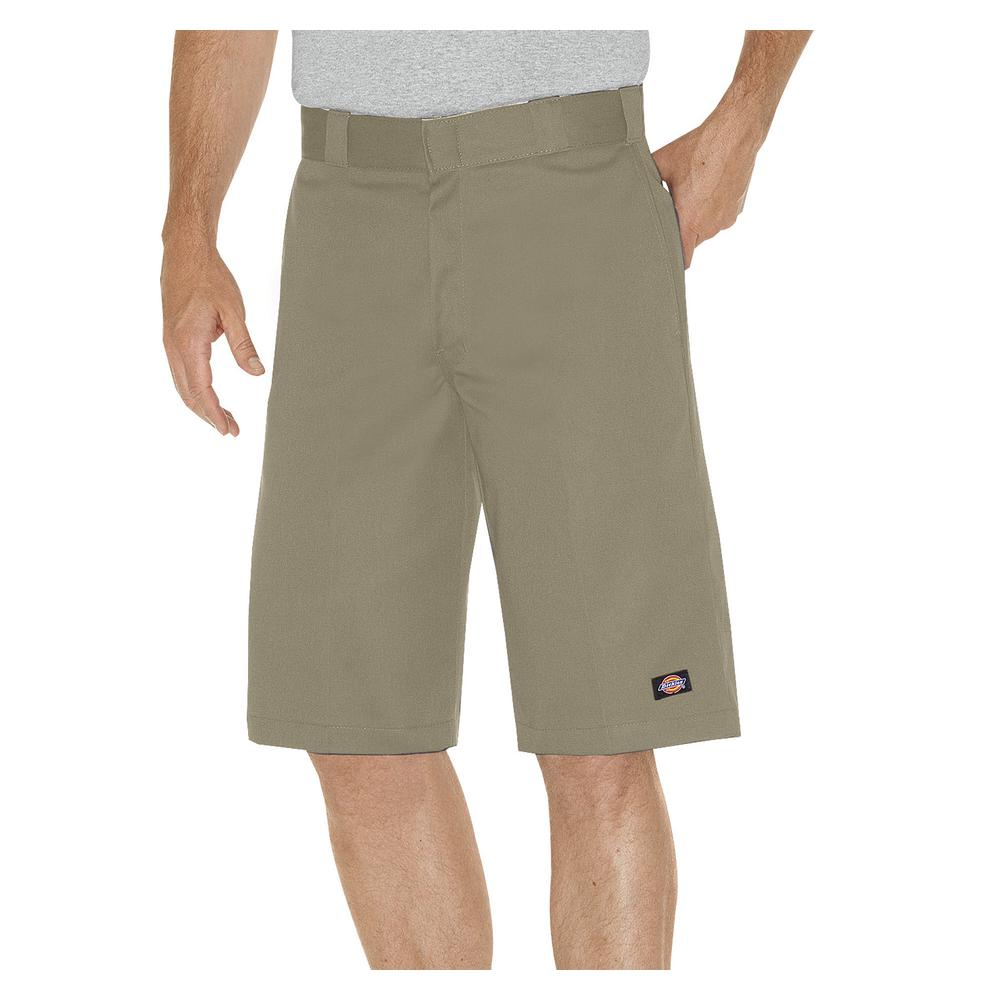 Men 13 in. Relaxed Fit Khaki Multi-Pocket Work Short
