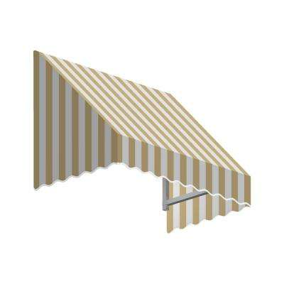 8.38 ft. Wide San Francisco Window/Entry Awning (24 in. H x 48 in. D) Linen/White