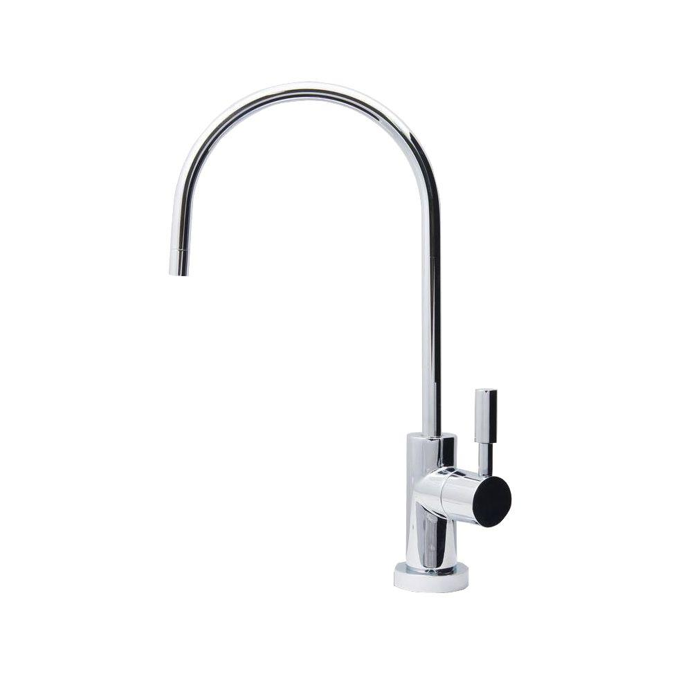 Ceramic Disc Single-Handle Beverage Faucet Lead Free Non-Air Gap in Chrome
