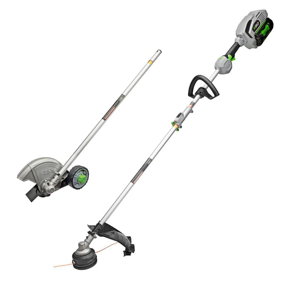 EGO POWER+15in.56V Lithium ion Cordless String Trimmer+Edger Combo Kit (2-Tool)w/5.0Ah Batt and Charge EGO Multi-Head System