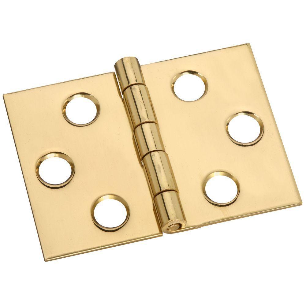 1-1/2 in. Solid Brass Desk Hinge