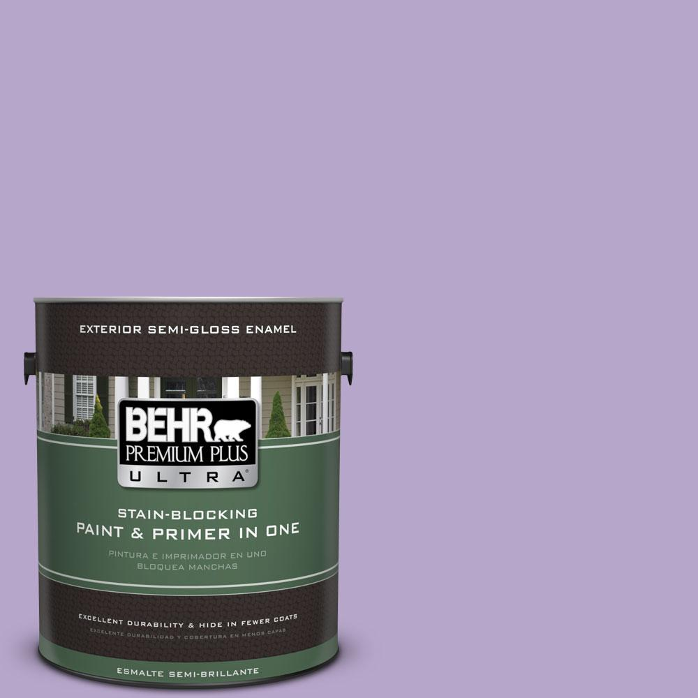 BEHR Premium Plus Ultra 1-gal. #650B-4 Violet Fields Semi-Gloss Enamel Exterior Paint