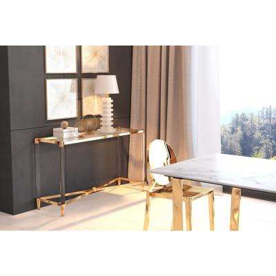 Existential Gold Console Table