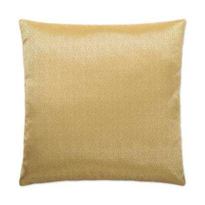 Guilty Pleasure Gold Feather Down 24 in. x 24 in. Standard Decorative Throw Pillow