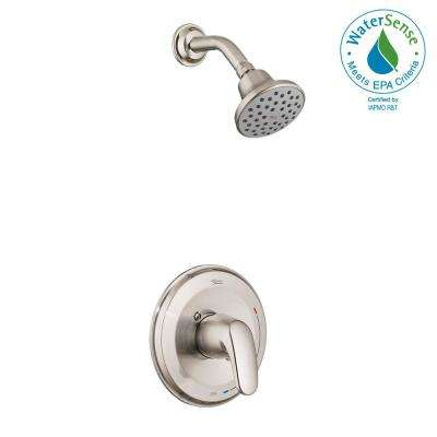 Colony Pro 1-Handle 1-Spray Shower Faucet Trim Kit in Brushed Nickel (Valve Not Included)
