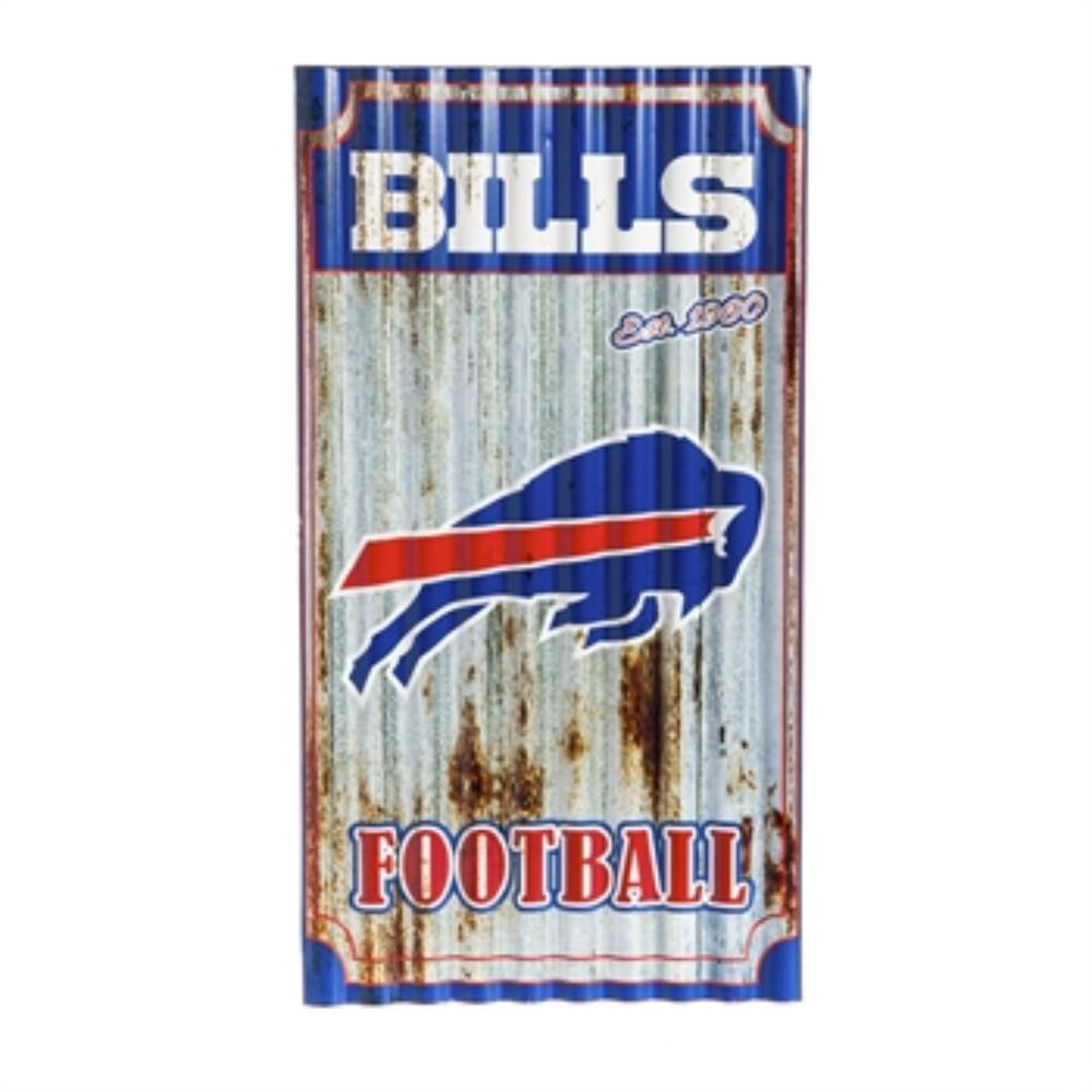 7e6328079856d Team Sports America Buffalo Bills NFL Corrugated Metal Indoor Outdoor Wall  Art 6M3803 - The Home Depot