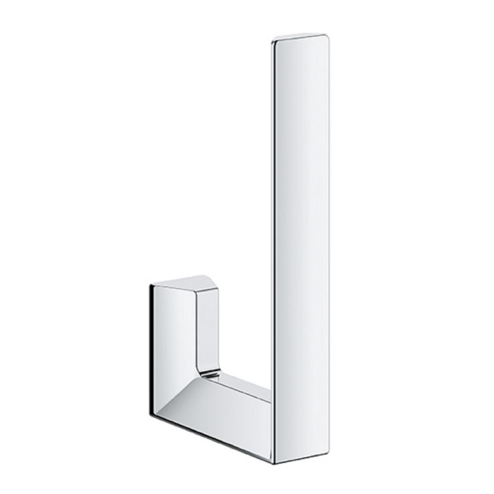 Selection Cube Wall-Mount Toilet Paper Holder in StarLight Chrome