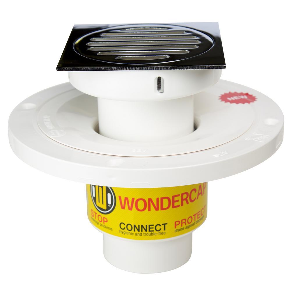 "Wondercap 2"" All-In-One Shower Drain Kit w/ Square Strainer"