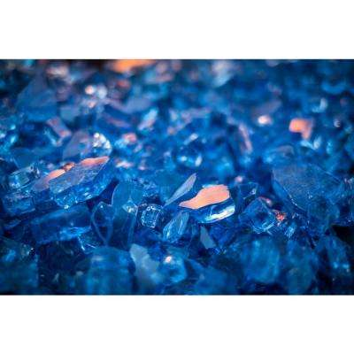 20 lbs. Blue Tempered Glass Rocks