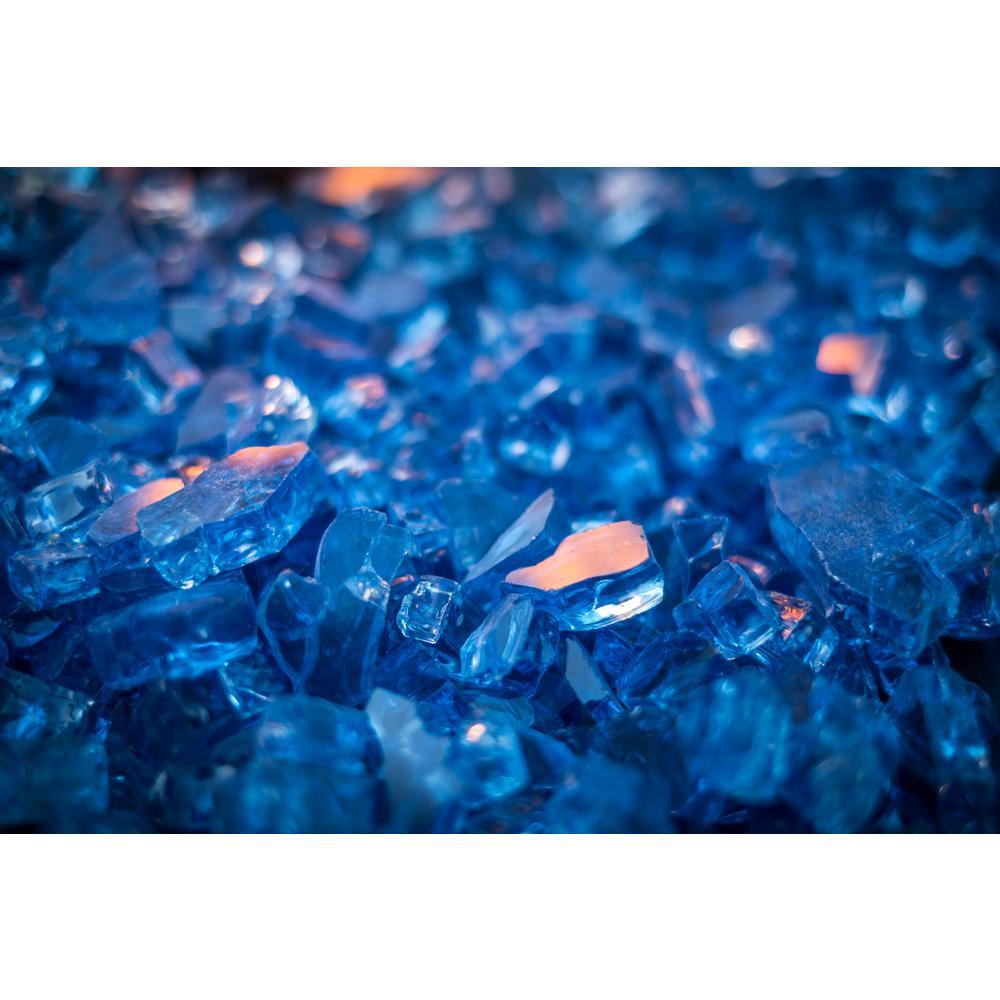 Pleasant Hearth 10 lbs. Blue Tempered Glass Rocks