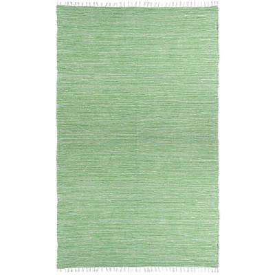 Green Chenille 8 ft. x 10 ft. Area Rug