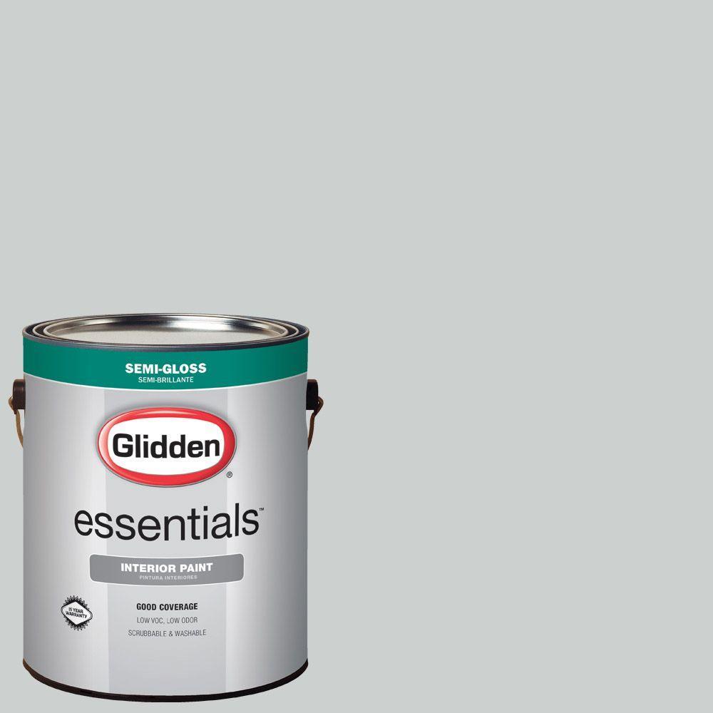 1 gal. #HDGCN36 Silvery Moonlight Semi-Gloss Interior Paint