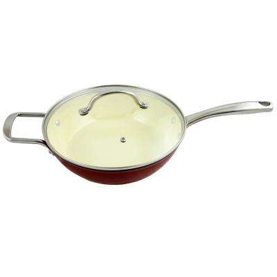 Lochner 3 Qt. Enameled Cast Iron Saute Pan with Lid