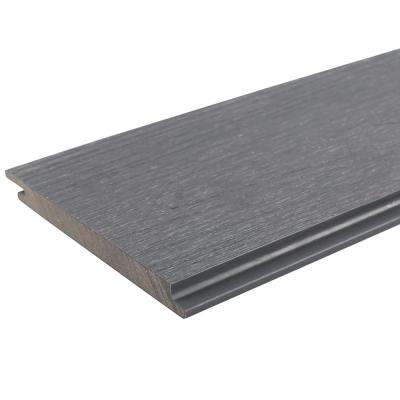 All Weather System 0.5 in. x 5.5 in. x 1 ft. Westminster Gray Composite Siding Sample Board