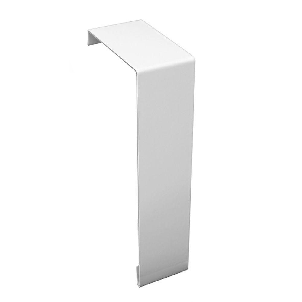 Baseboarders Basic Series Steel Easy Slip-On Baseboard Heater Cover Coupler in White