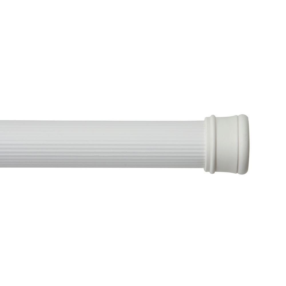 42 in. - 72 in. Utility Tension Rod in White