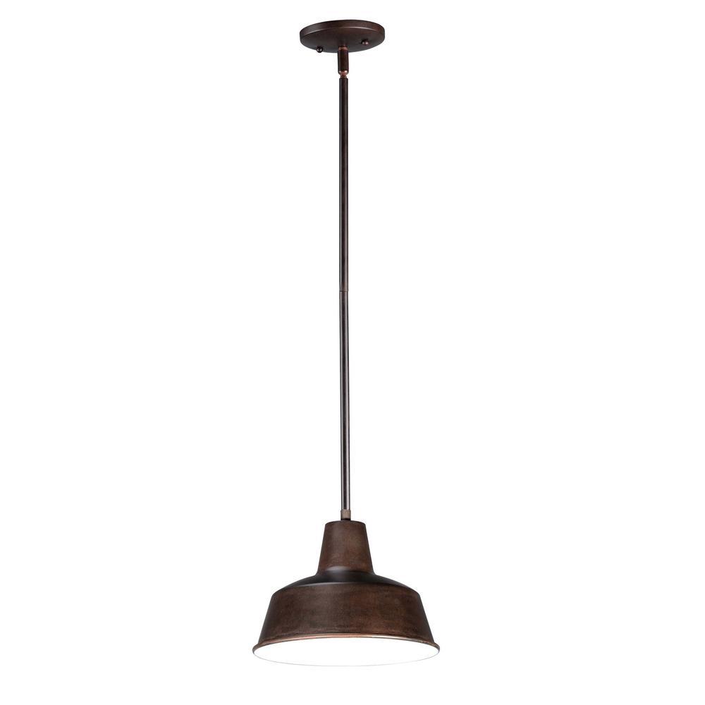 Pier M 8.25 in. Wide Empire Bronze 1-Light Outdoor Hanging Lantern