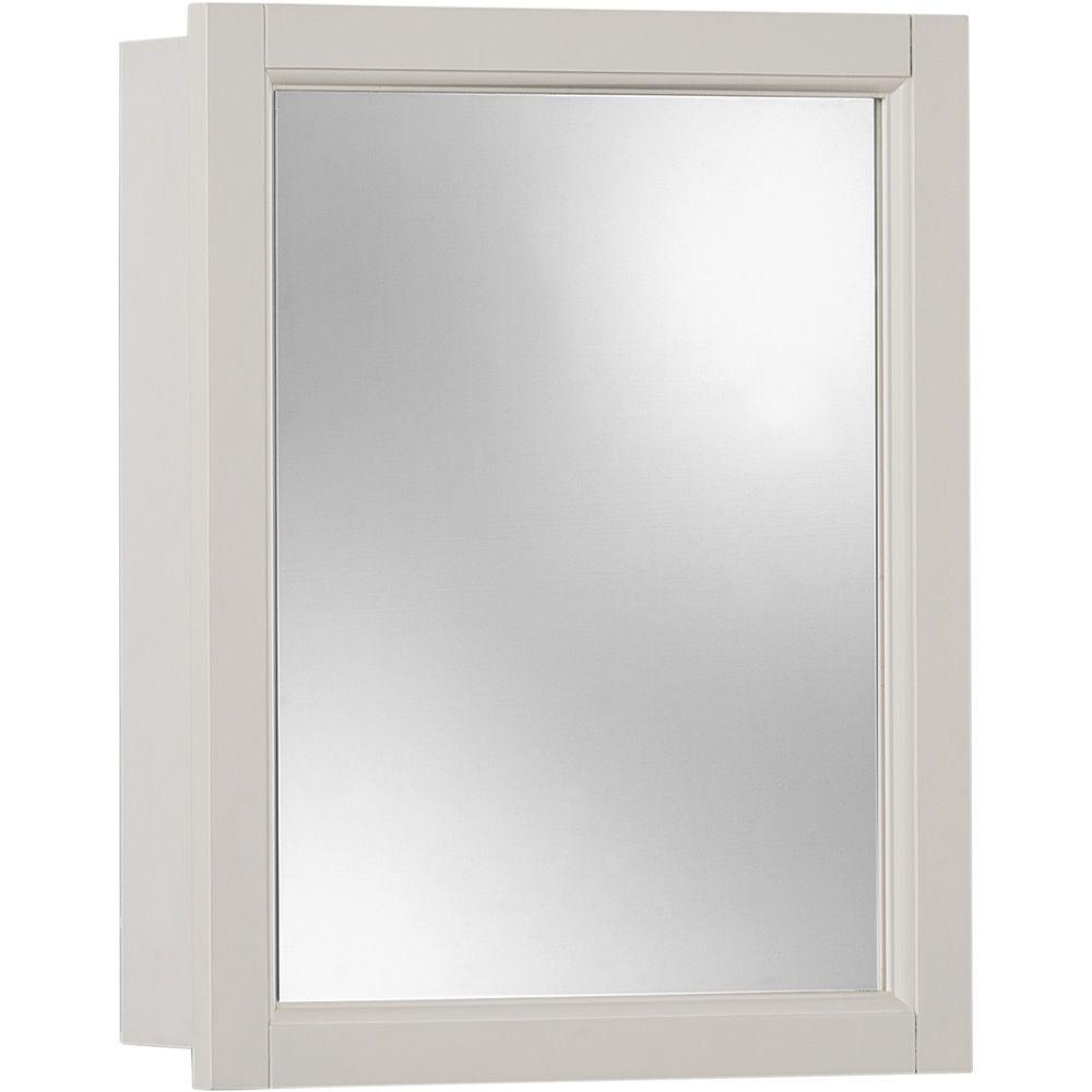 null Sheridan 15 in. W x 19 in. H x 4.75 in. D Surface-Mount Medicine Cabinet in Classic White-DISCONTINUED