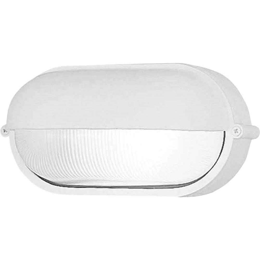 Volume Lighting Small 1 Light White Aluminum Outdoor Flush Mount Ceiling Fixture Wall Mount Sconce Frosted Ribbed Glass Half Oval Sphere V8861 6 The Home Depot