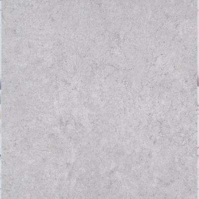 Take Home Sample - White Fossil Peel and Stick Vinyl Tile - 5 in. x 7 in.