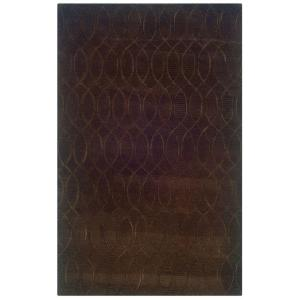 Charming Linon Home Decor Ashton Collection Chocolate 5 Ft. X 8 Ft. Indoor Area Rug  RUG SLSG6058   The Home Depot