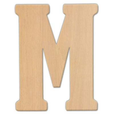 Large Decorative Wooden Letters.23 In Oversized Unfinished Wood Letter M