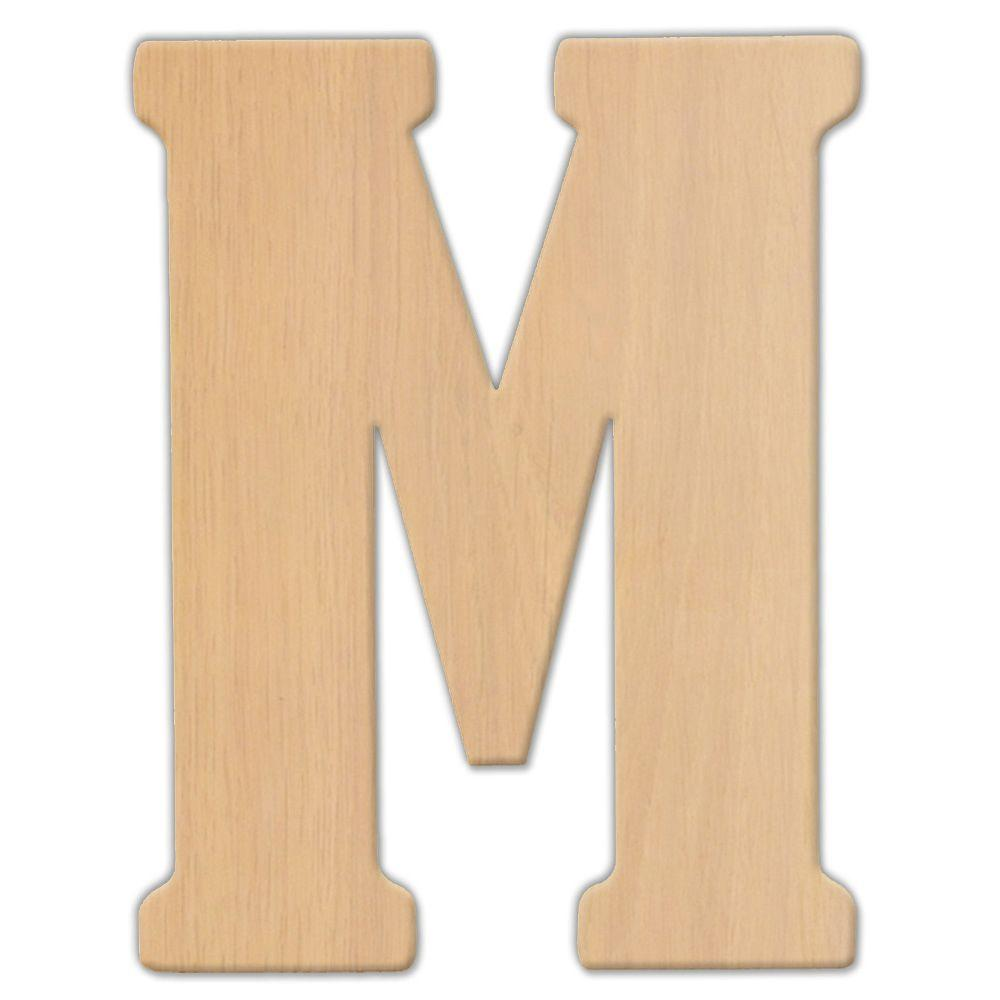 Jeff McWilliams Designs 23 in. Oversized Unfinished Wood Letter (M)