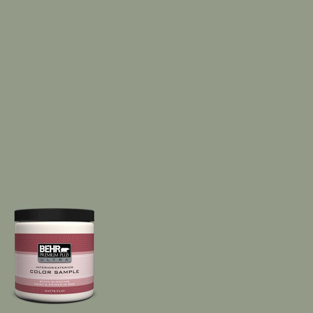 BEHR Premium Plus Ultra 8 oz. #430F-4 False Cypress Interior/Exterior Paint Sample