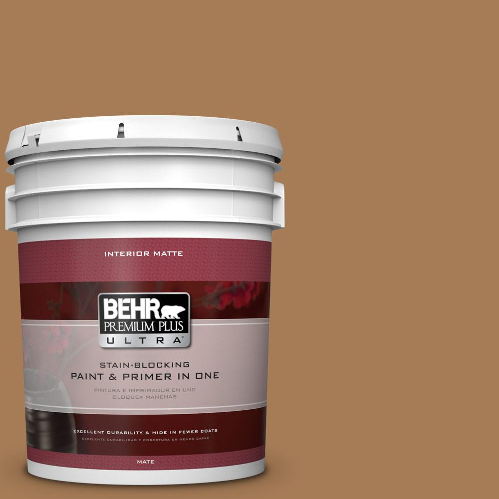 BEHR Premium Plus Ultra 5 gal. #S270-7 Antique Penny Matte Interior Paint