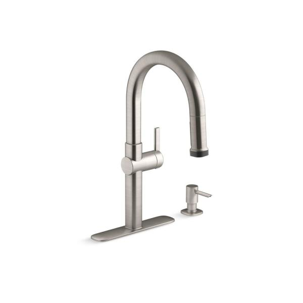 Rune Single-Handle Pull-Down Sprayer Kitchen Faucet in Vibrant Stainless
