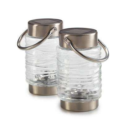 Wave Clear Integrated LED Solar Lantern (2-Pack)