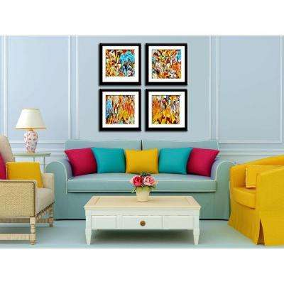 """Four 10 in. x 10 in. """"Autumn River"""" by Neeva Kedem Framed Printed Wall Art"""