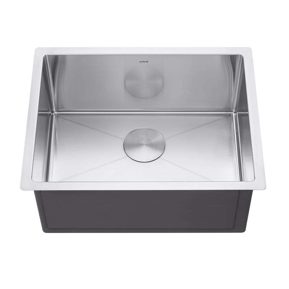 Modena 23 In Undermount Utility Sink For Laundry Room 16 Gauge 12 In Deep Single Bowl Modena23 The Home Depot