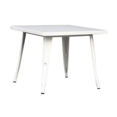 True White End Table