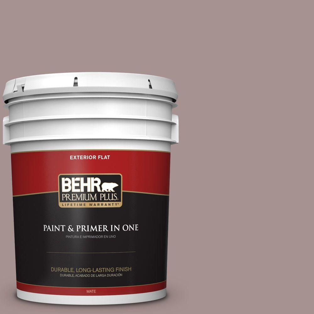 5-gal. #740B-4 Suede Leather Flat Exterior Paint