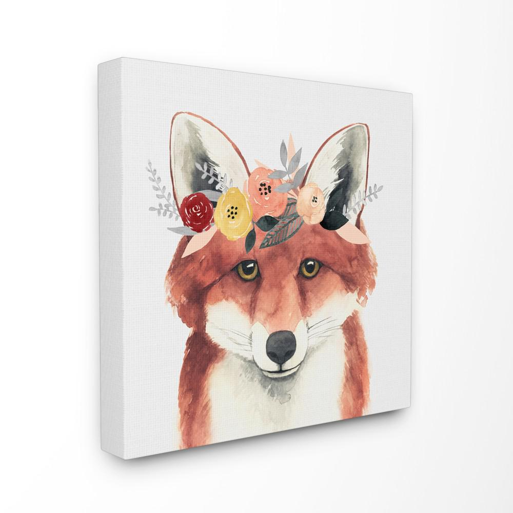 The Stupell Home Decor Collection 30 In X 30 In Forest Fox In