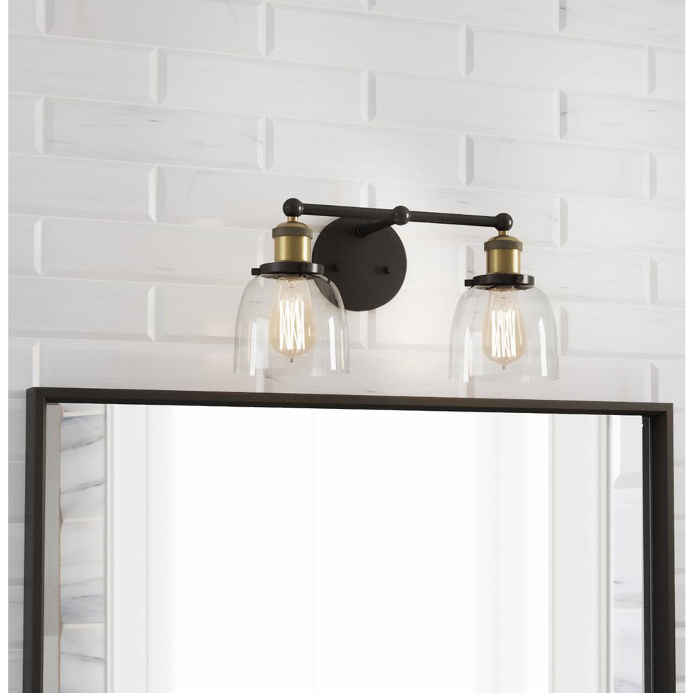 Evelyn 2-Light Artisan Bronze Vanity Light