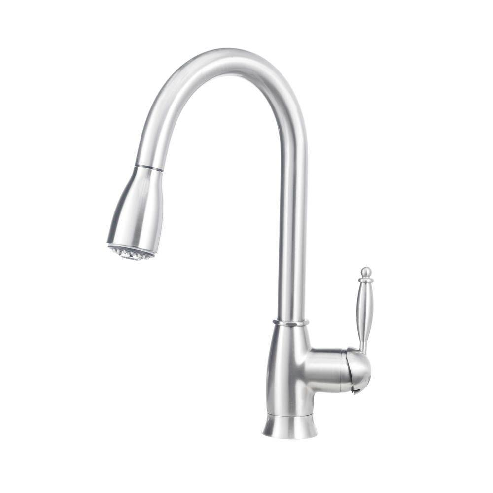 Grace II 1.8 GPM Single-Handle Pull-Down Sprayer Kitchen Faucet in Satin