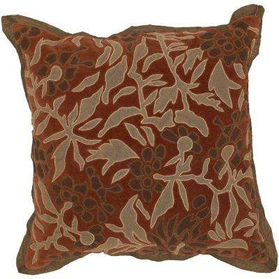 FloraA 18 in. x 18 in. Decorative Down Pillow